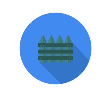 fence on blue background  illustration Иллюстрация