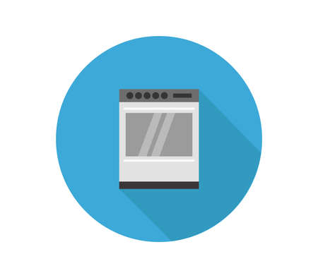 oven on blue background