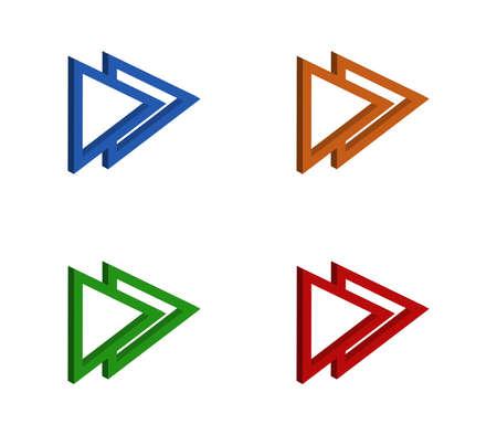 arrow isolated on white