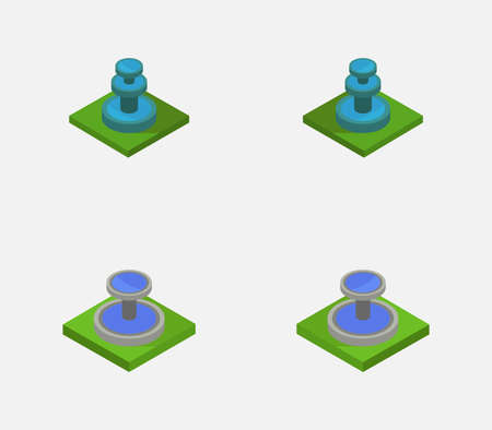 isometric fountain