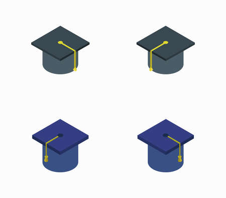 isometric graduation hat