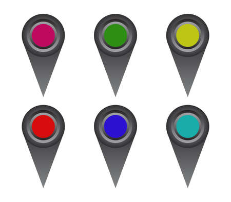 GPS icon isolated on white Vettoriali