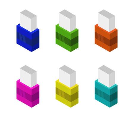 eraser isometric eraser 免版税图像 - 154104315