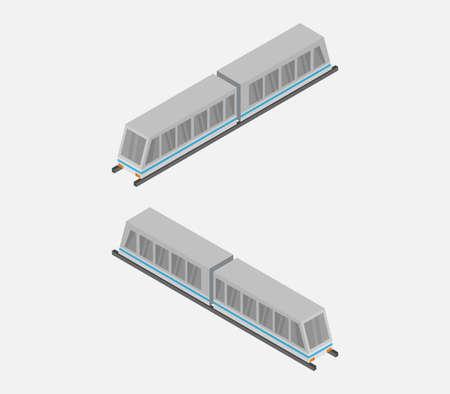 isometric train 向量圖像