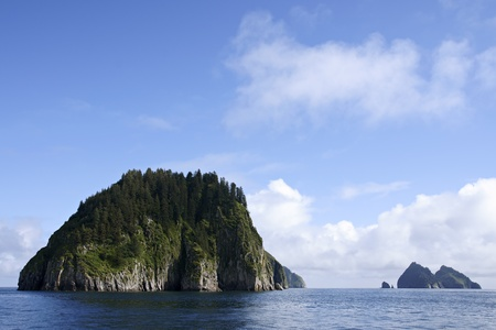 Beautiful island in Resurrection bay during boat trip photo