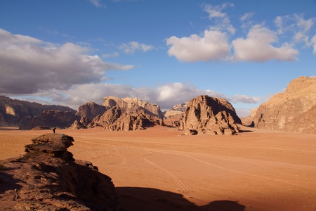 Amazing landscape in Wadi Rum desert, Jordan photo