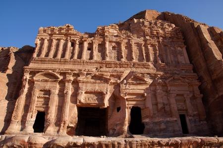 Ruin of Palace Tomb in Petra, Jordan photo
