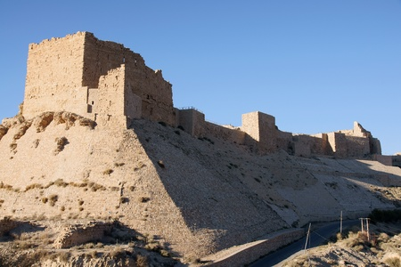 Landscape of Karak Castle on the King Road, Jordan photo