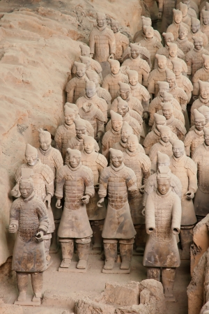 statue  of terracotta warriors found in Xian, China. photo
