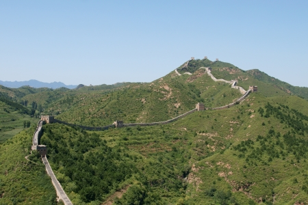 Famous great wall at Simatai near Beijing, China photo