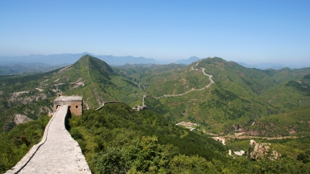 simatai: Famous great wall at Simatai near Beijing, China Stock Photo