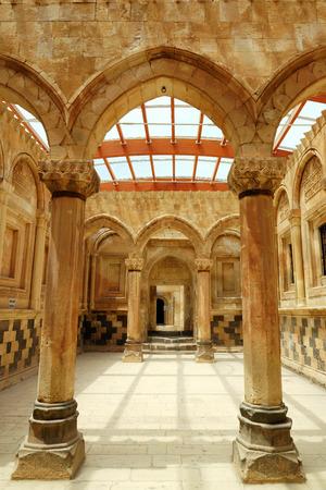 architectural interior: Column in Ishak Pasha near Dogubeyazit, Turkey