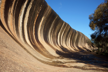 perth: Wave Rock, geological rock formation at Western Australia