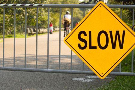 Slow sign Stock Photo - 5610184