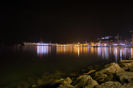 sarzana: Gaeta - Italy in the night Stock Photo