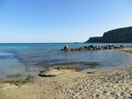 Rhodos beach with a blue sea