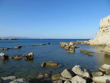 Rhodos city beach of rocks