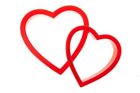 interlocking: two hearts