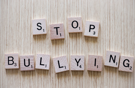 Stop Bullying on wood photo