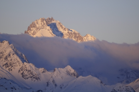 gaspard: Pic Gaspard  3,883 m , Massif des �crins, France Stock Photo