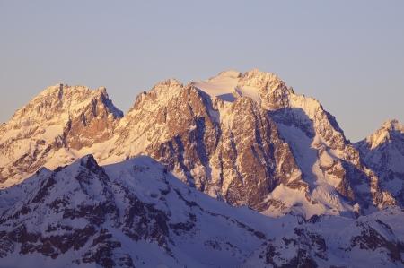 alpinism: Mont Pelvoux  3,946 m , Massif des Écrins, France