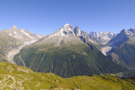 du: Aiguille du Chardonnet mountain landscape, Mont Blanc, France
