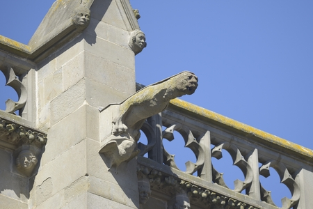 gargouille: Gargoyle ou gargouilles - Carcassonne, France