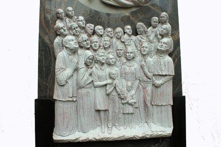 reverential: rappresentazione di gruppo di preghiera marmo