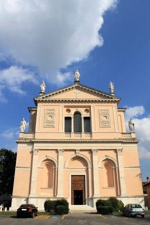 external facade of a church in Italy photo