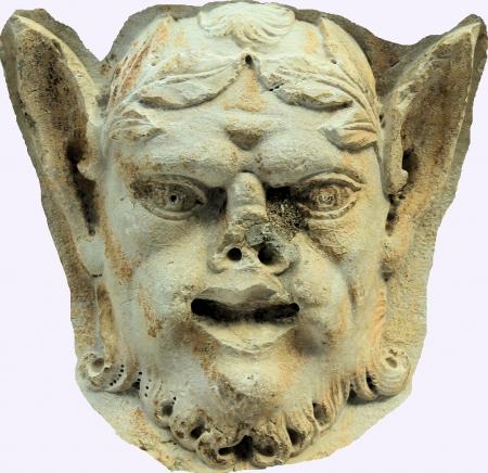 faun: Old faun sculpture