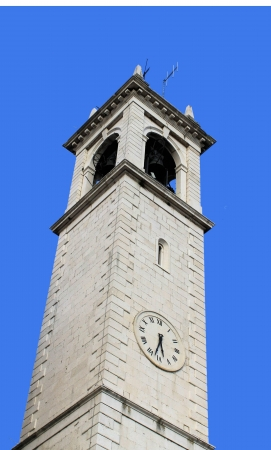 Old bell tower clock photo
