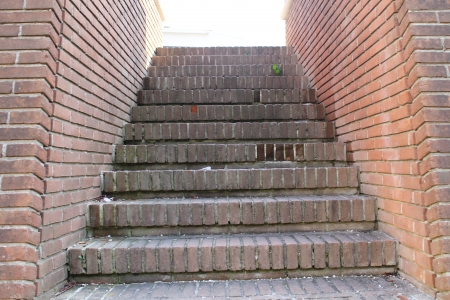 clinker tile: red brick stairs