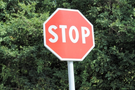 trafic stop: Stop Traffic Sign Stock Photo