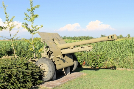 especially: especially heavy artillery with nature background