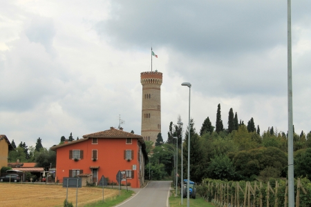 memoir: view with the tower of Solferino and San Martino in Italy Stock Photo