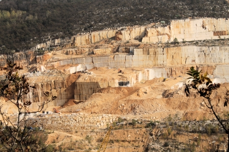The Marble Quarries Stock Photo