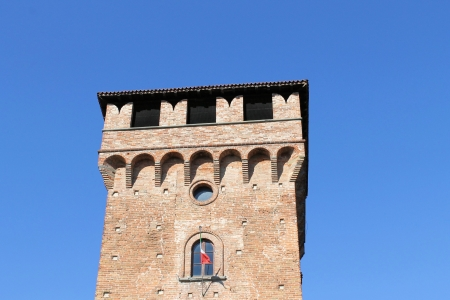 particularly: particularly ancient tower in Italy