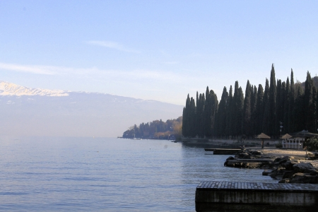 view of Lake Garda in winter photo