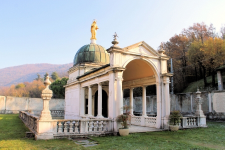 The shrine of the Virgin Mary of Valverde Rezzato in the province of Brescia was born near the site of the Marian apparition of 1399 photo