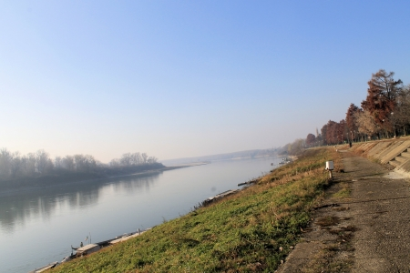 the po valley: river Stock Photo