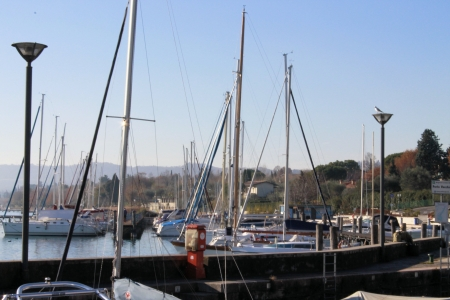 marina on Lake Garda in Italy photo