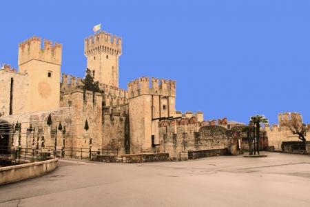 sirmione: The castle of Sirmione on Lake Garda Editorial