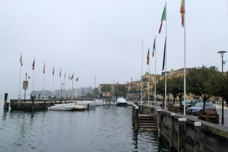 nafplio: marina on Lake Garda in Italy Editorial