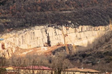 marble quarries in northern Italy photo