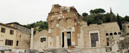 Ruins of the roman temple called Capitolium or Tempio Capitolino photo