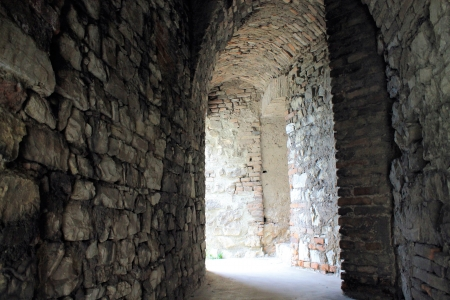 passages: secret passages of the medieval castle of Brescia in Italy