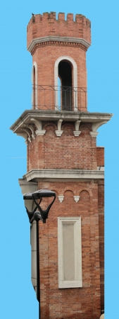 turret brick in a city in northern Italy  photo