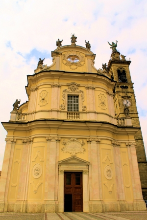 facade of cathedral in italy photo