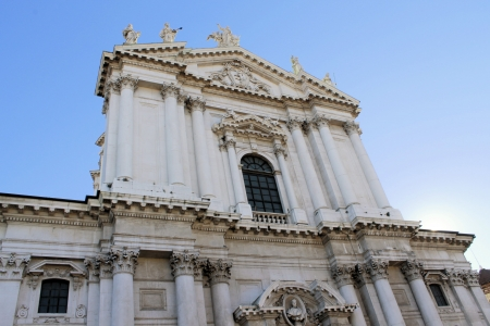 humanistic: The cathedral of Brescia, in the north of Italy Stock Photo