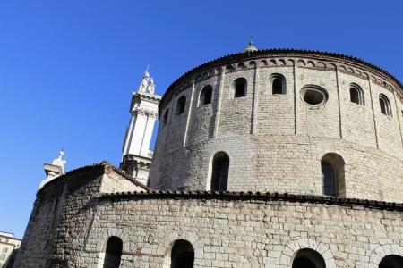 humanistic: photography Romanesque church called  La Rotonda  in Brescia, Italy